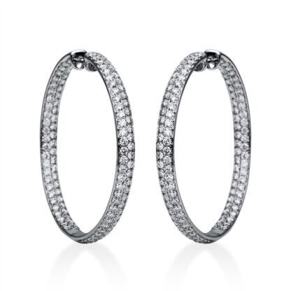 18 kt fehérarany karika és huggie 220 gyémánttal 2F279W8-1