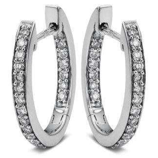 18 kt fehérarany karika és huggie 40 gyémánttal 2A073W8-8