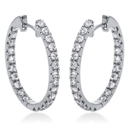 18 kt fehérarany karika és huggie 48 gyémánttal 2H888W8-1