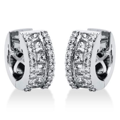 18 kt fehérarany karika és huggie 52 gyémánttal 2I275W8-1