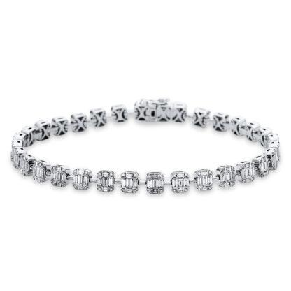 18 kt fehérarany karkötő 288 gyémánttal 5C016W8-1