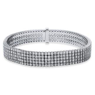 18 kt fehérarany karkötő 440 gyémánttal 5B915W8-1