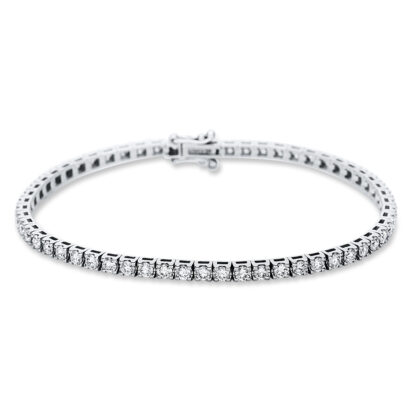 18 kt fehérarany karkötő 58 gyémánttal 5B986W8-1