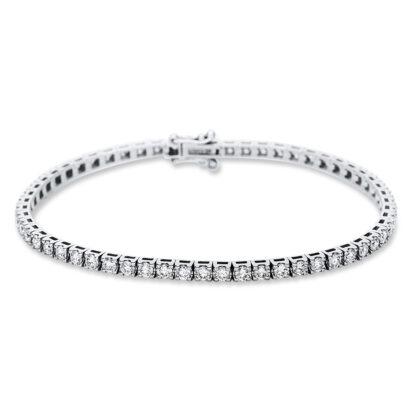 18 kt fehérarany karkötő 58 gyémánttal 5B986W8-3