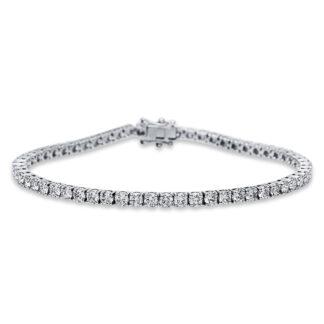 18 kt fehérarany karkötő 59 gyémánttal 5B925W8-1