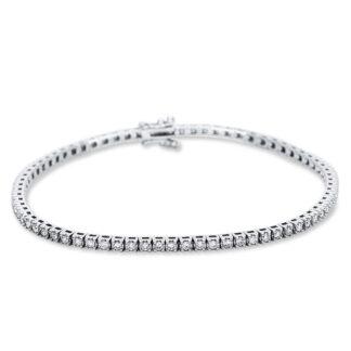 18 kt fehérarany karkötő 73 gyémánttal 5B989W8-4