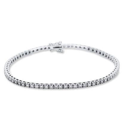 18 kt fehérarany karkötő 73 gyémánttal 5B989W8-5