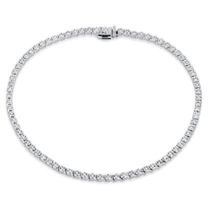 18 kt fehérarany karkötő 76 gyémánttal 5A267W8-1