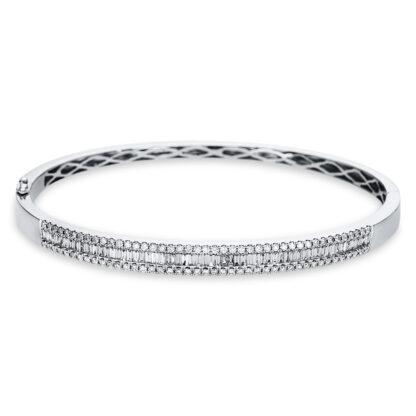 18 kt fehérarany karperec 142 gyémánttal 6A525W8-2