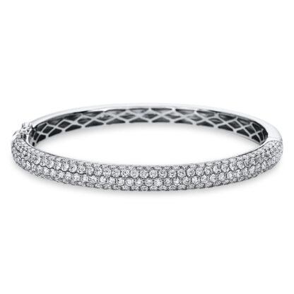 18 kt fehérarany karperec 199 gyémánttal 6A573W8-1