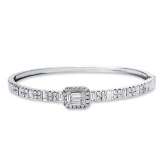 18 kt fehérarany karperec 70 gyémánttal 6A584W8-1