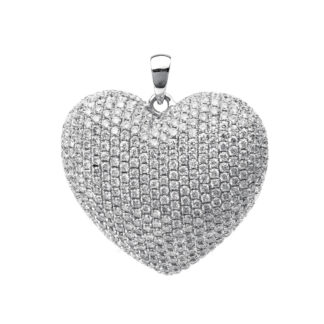 18 kt fehérarany medál 402 gyémánttal 3B875W8-2
