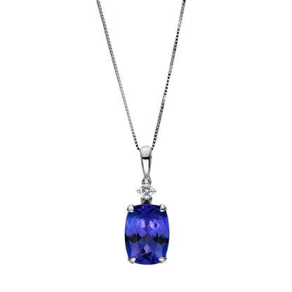 18 kt fehérarany nyaklánc 1 gyémánttal