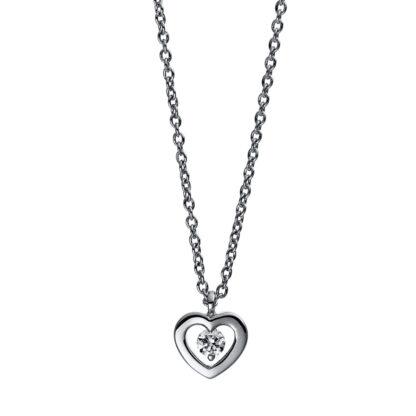 18 kt fehérarany nyaklánc 1 gyémánttal 4D993W8-1