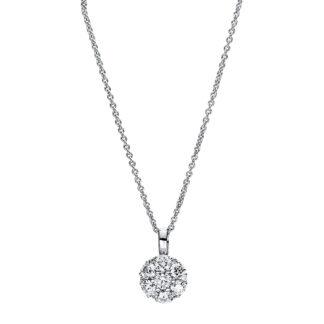 18 kt fehérarany nyaklánc 13 gyémánttal 4F458W8-1
