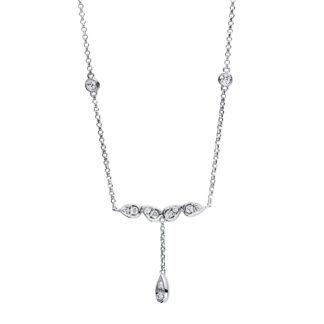 18 kt fehérarany nyaklánc 14 gyémánttal 4F477W8-1