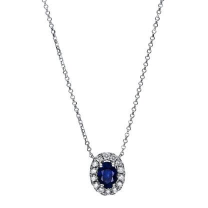 18 kt fehérarany nyaklánc 16 gyémánttal