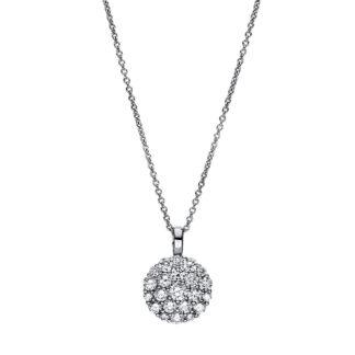 18 kt fehérarany nyaklánc 22 gyémánttal 4F465W8-1