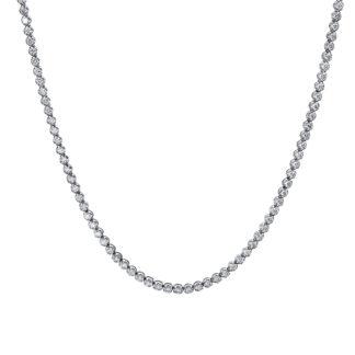 18 kt fehérarany nyaklánc 286 gyémánttal 4E649W8-1