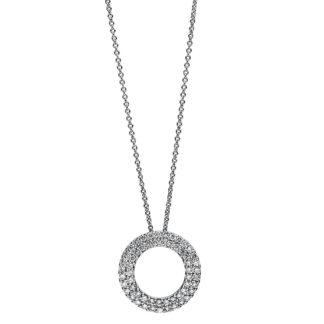 18 kt fehérarany nyaklánc 3 gyémánttal 4A795W8-2