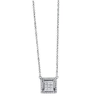 18 kt fehérarany nyaklánc 37 gyémánttal 4F468W8-1