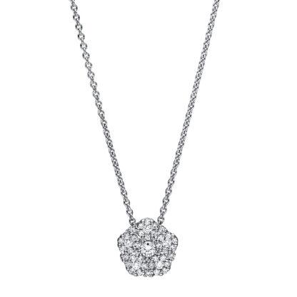 18 kt fehérarany nyaklánc 41 gyémánttal 4F459W8-1