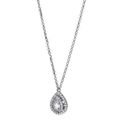 18 kt fehérarany nyaklánc 42 gyémánttal 4F553W8-1