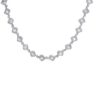 18 kt fehérarany nyaklánc 523 gyémánttal 4F508W8-1