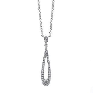 18 kt fehérarany nyaklánc 53 gyémánttal 4C405W8-6