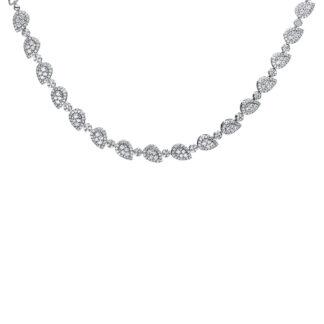 18 kt fehérarany nyaklánc 535 gyémánttal 4F509W8-1