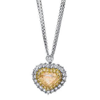 18 kt fehérarany / sárga arany nyaklánc 42 gyémánttal 4F058WG8-1