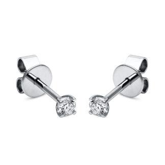 18 kt fehérarany steckeres 2 gyémánttal 2A994W8-15