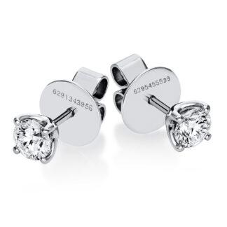 18 kt fehérarany steckeres 2 gyémánttal 2F665W8-1