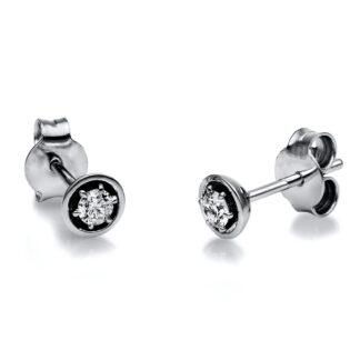 18 kt fehérarany steckeres 2 gyémánttal 2H129W8-2