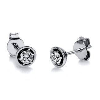 18 kt fehérarany steckeres 2 gyémánttal 2H132W8-3