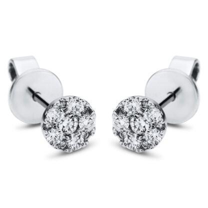 18 kt fehérarany steckeres 22 gyémánttal 2J170W8-2