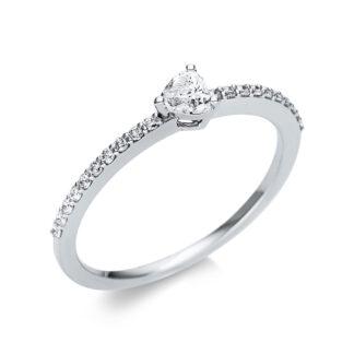 18 kt fehérarany szoliter oldalkövekkel 21 gyémánttal 1U612W854-3