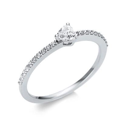 18 kt fehérarany szoliter oldalkövekkel 21 gyémánttal 1U612W854-4