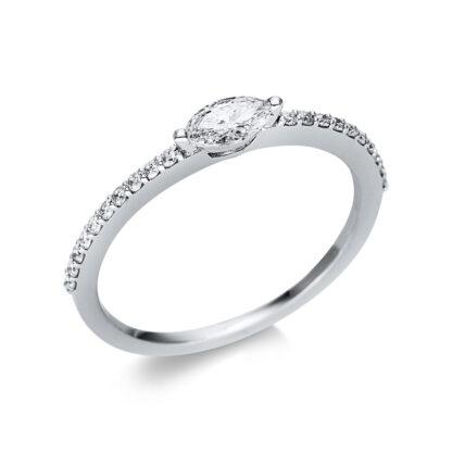 18 kt fehérarany szoliter oldalkövekkel 21 gyémánttal 1U615W854-3