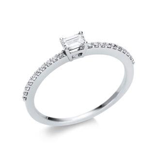 18 kt fehérarany szoliter oldalkövekkel 21 gyémánttal 1U620W854-3