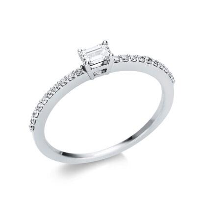 18 kt fehérarany szoliter oldalkövekkel 21 gyémánttal 1U620W854-4