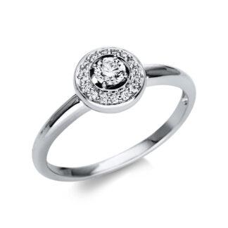18 kt fehérarany több köves gyűrű 17 gyémánttal 1T882W855-2