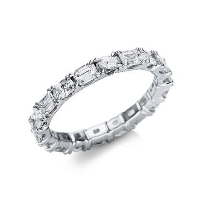 18 kt fehérarany több köves gyűrű 17 gyémánttal 1U280W853-1