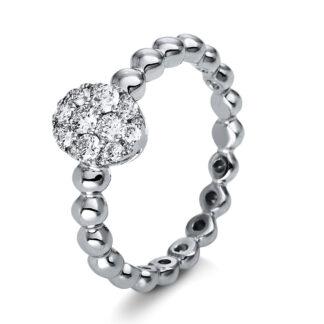 18 kt fehérarany több köves gyűrű 18 gyémánttal 1P170W853-1