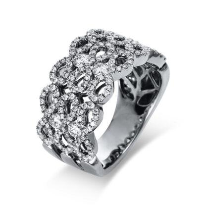 18 kt fehérarany több köves gyűrű 186 gyémánttal 1R529W854-1