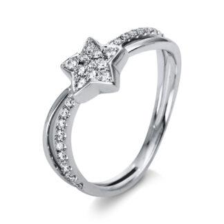 18 kt fehérarany több köves gyűrű 29 gyémánttal 1O855W852-1