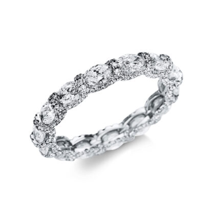 18 kt fehérarany több köves gyűrű 32 gyémánttal 1U289W853-1
