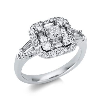 18 kt fehérarany több köves gyűrű 35 gyémánttal 1U348W854-1