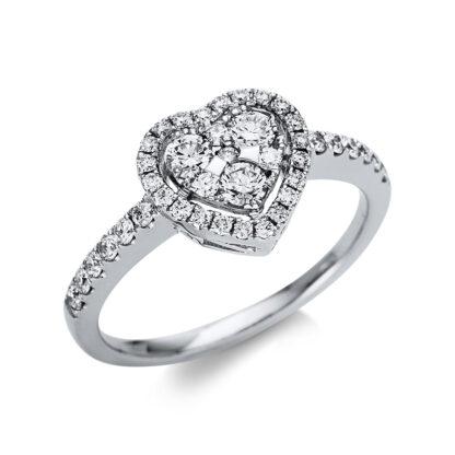 18 kt fehérarany több köves gyűrű 41 gyémánttal 1U316W853-1