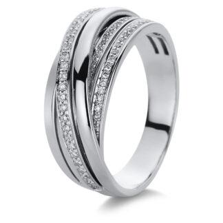 18 kt fehérarany több köves gyűrű 68 gyémánttal 1B987W854-6